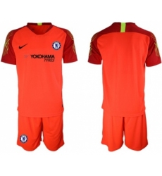 Chelsea Blank Red Goalkeeper Soccer Club Jersey
