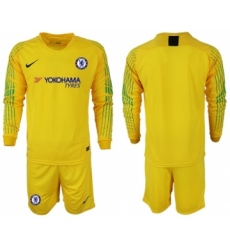 Chelsea Blank Yellow Goalkeeper Long Sleeves Soccer Club Jersey