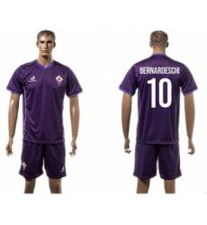 Florence #10 Bernardeschi Home Soccer Club Jersey