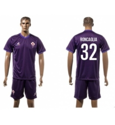 Florence #32 Roncaglia Home Soccer Club Jersey