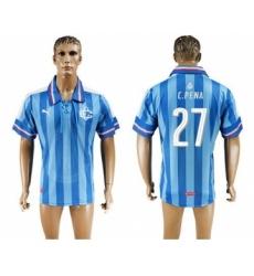 Guadalajara #27 C.Pena Blue Soccer Club Jersey