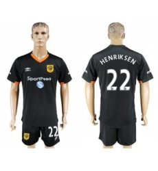 Hull City #22 Henriksen Away Soccer Club Jersey