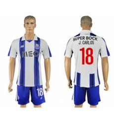 Oporto #18 J.Carlos Home Soccer Club Jersey