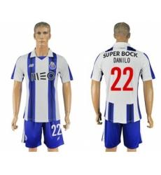 Oporto #22 Danilo Home Soccer Club Jersey