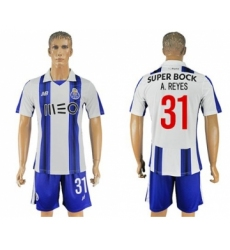 Oporto #31 A.Reyes Home Soccer Club Jersey