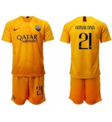 Roma #27 Pastore Third Soccer Club Jersey