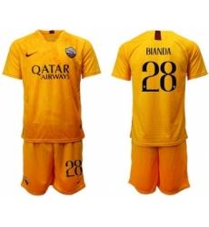 Roma #28 Bianda Third Soccer Club Jersey