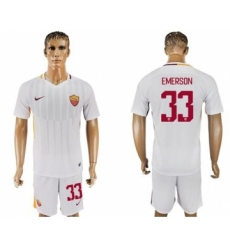 Roma #33 Emerson Away Soccer Club Jersey