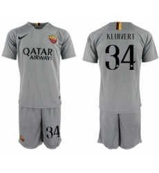 Roma #34 Kluivert Away Soccer Club Jersey