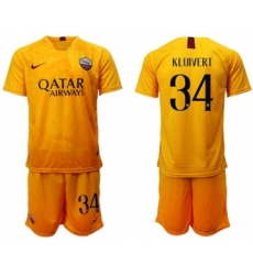 Roma #34 Kluivert Third Soccer Club Jersey
