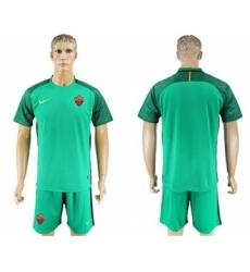 Roma Blank Green Goalkeeper Soccer Club Jersey