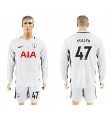 Tottenham Hotspur #47 Miller Home Long Sleeves Soccer Club Jersey