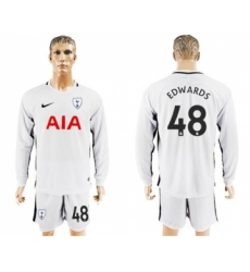 Tottenham Hotspur #48 Edwards Home Long Sleeves Soccer Club Jersey