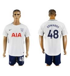 Tottenham Hotspur #48 Edwards White Blue Soccer Club Jersey