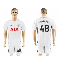 Tottenham Hotspur #48 Edwards White Home Soccer Club Jersey
