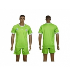 Algeria Blank Green Away Soccer Country Jersey