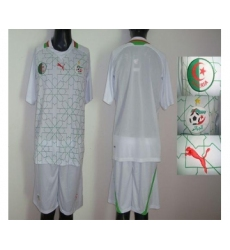 Algeria Blank White Home 2012 2013 Soccer Country Jersey