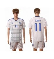 Bosnia Herzegovina #11 Dzeko Away Soccer Country Jersey