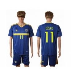 Bosnia Herzegovina #11 Dzeko Home Soccer Country Jersey