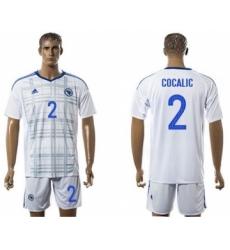 Bosnia Herzegovina #2 Cocalic Away Soccer Country Jersey