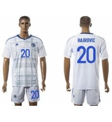 Bosnia Herzegovina #20 Hajrovic Away Soccer Country Jersey