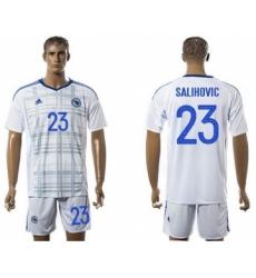 Bosnia Herzegovina #23 Salihovic Away Soccer Country Jersey