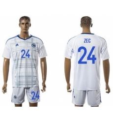 Bosnia Herzegovina #24 Zec Away Soccer Country Jersey