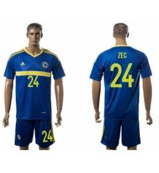 Bosnia Herzegovina #24 Zec Home Soccer Country Jersey