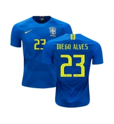 Brazil #23 Diego Alves Away Soccer Country Jersey