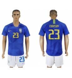 Brazil #23 Ederson Away Soccer Country Jersey