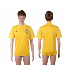 Brazil Blank Yellow Polo Shirts
