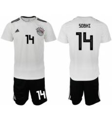 Egypt #14 Sobhi Away Soccer Country Jersey