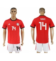 Egypt #14 Sobhi Red Home Soccer Country Jersey