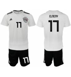 Egypt #17 Elneny Away Soccer Country Jersey