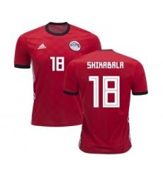 Egypt #21 Trezeguet Red Home Soccer Country Jersey