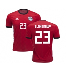 Egypt #23 Elshenawy Red Home Soccer Country Jersey