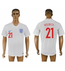 England #21 Welbeck Home Thai Version Soccer Country Jersey