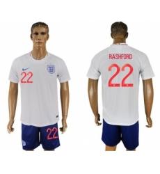 England #22 Rashford Home Soccer Country Jersey