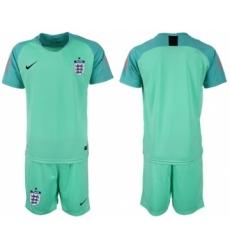 England Blank Green Goalkeeper Soccer Country Jersey