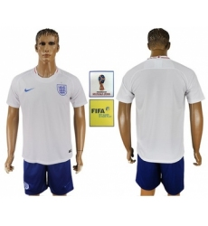 England Blank Home Soccer Country Jersey