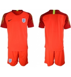 England Blank Red Goalkeeper Soccer Country Jersey