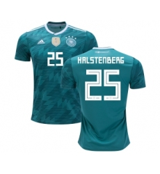 Germany #25 Halstenberg Away Soccer Country Jersey