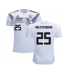 Germany #25 Halstenberg White Home Soccer Country Jersey