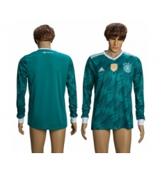 Germany Blank Away Long Sleeves Soccer Country Jersey