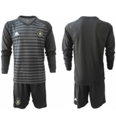 Germany Blank Black Goalkeeper Long Sleeves Soccer Country Jersey