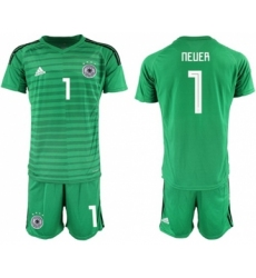 Germany Blank BlackGermany #1 Neuer Green Goalkeeper Soccer Country Jersey Soccer Country Jersey