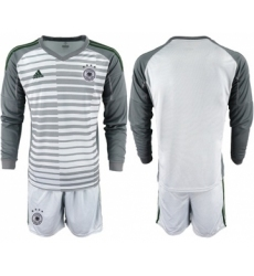Germany Blank Grey Goalkeeper Long Sleeves Soccer Country Jersey