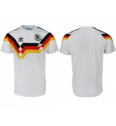 Germany Blank White Throwback Soccer Country Jersey