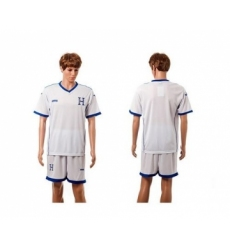 Honduras Blank White Home Soccer Country Jersey