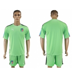 Italy Blank Green Goalkeeper Soccer Country Jersey